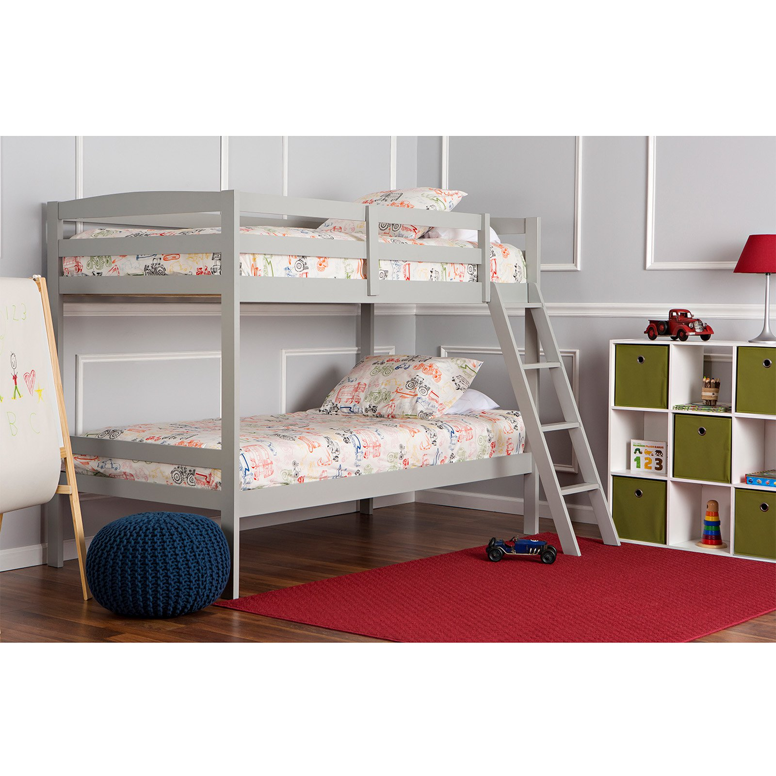 Dream On Me Taylor Twin Over Twin Wood Bunk Bed, Gray (Box 1 of 2) by Dream On Me