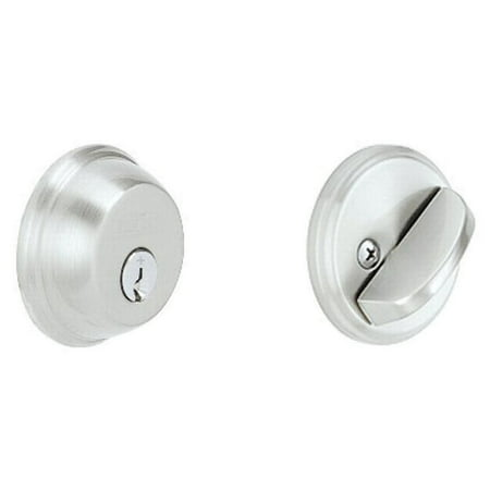 626 Deadbolt (Schlage B60CSV626 Satin Chrome Single Cylinder Deadbolt)