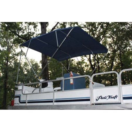 New NAVY BLUE Vortex Pontoon / Deck Boat 4 Bow Bimini Top 12