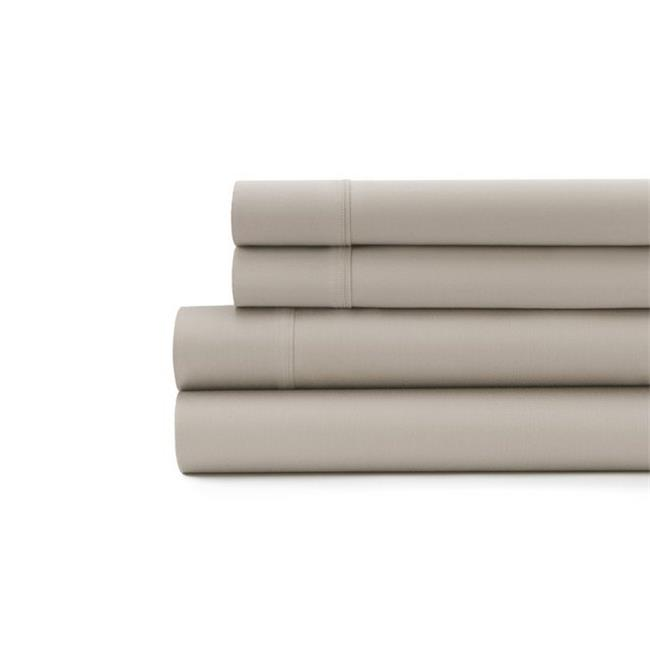 Signet 300 Thread Count Solid Sateen Sheet Set, Taupe - Full Size - image 1 of 1
