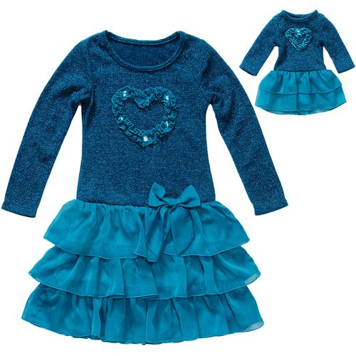 """Together Forever, Matching Girl and 18"""" Doll Dress Set"""