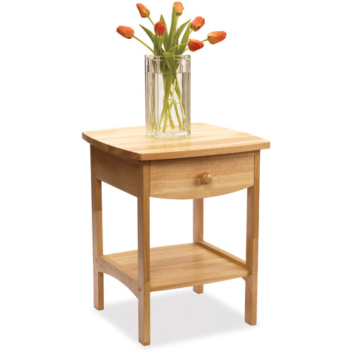 Curved Nightstand End Table Walmartcom