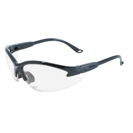 Global Vision Cougar Black Semi Rimless Frame Clear (Semi Rimless)