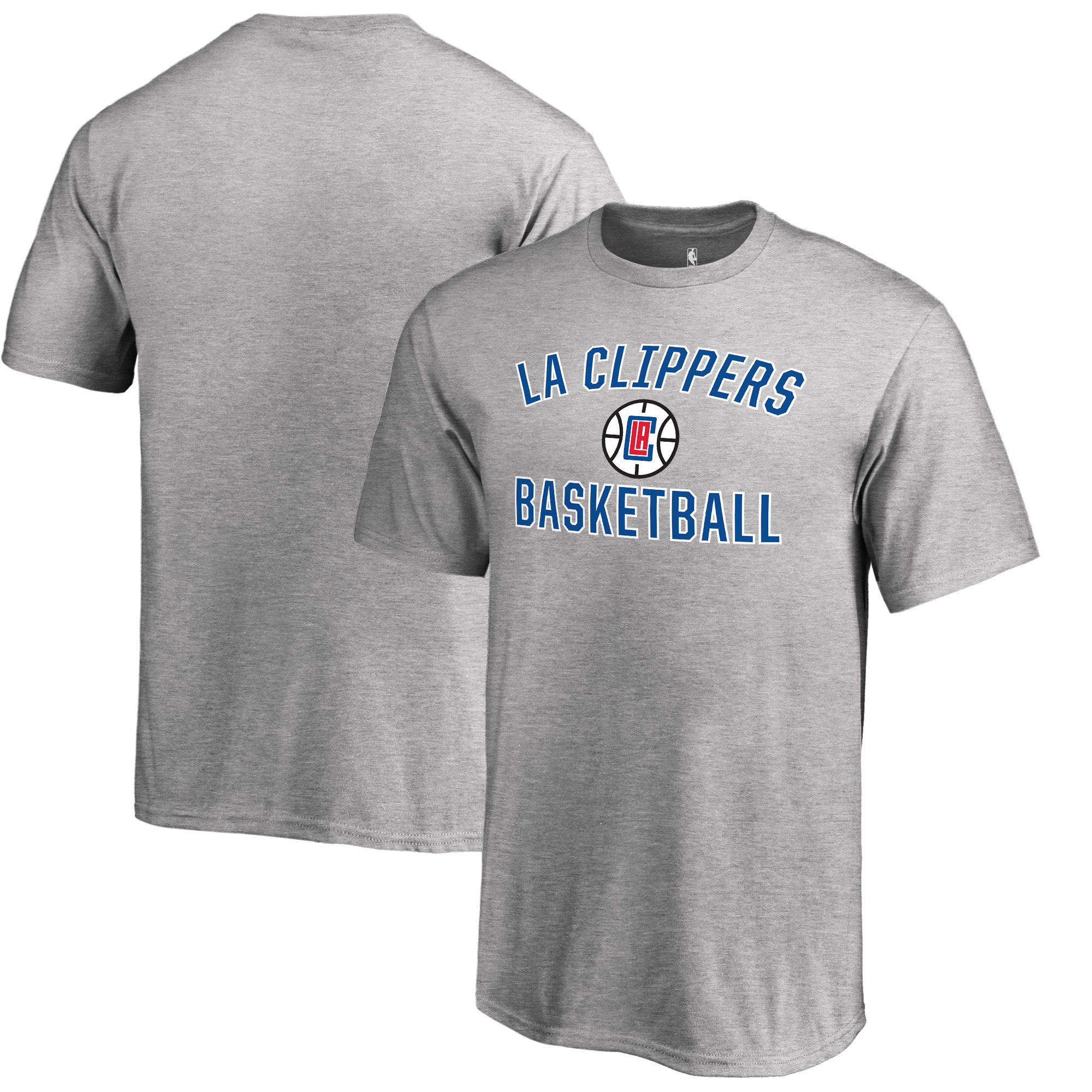 LA Clippers Fanatics Branded Youth Victory Arch T-Shirt - Heathered Gray
