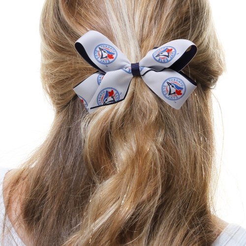 Toronto Blue Jays Two-Tone Hair Bow - No Size