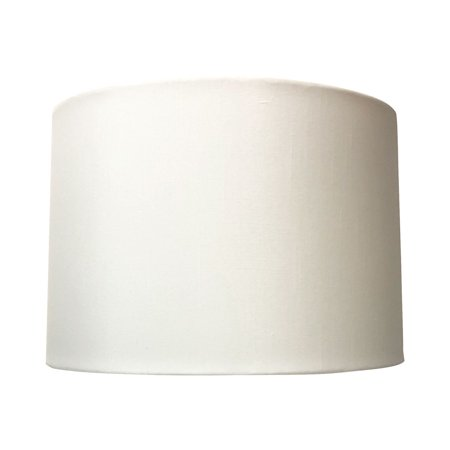 Royal Designs Uno Drop Shallow Drum Hard Back White Table Lampshade, 13 x 14 x 9