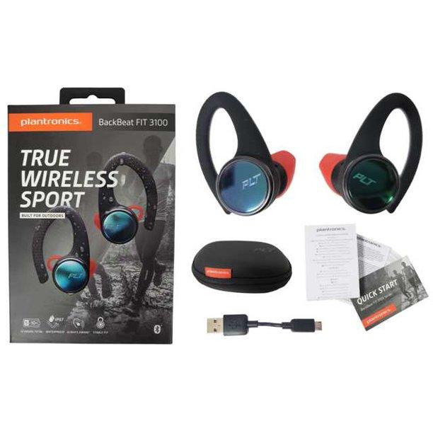 Plantronics Backbeat Fit 3100 True Wireless Sport Earbuds Bluetooth Waterproof Bf3100s Open Box Walmart Com Walmart Com