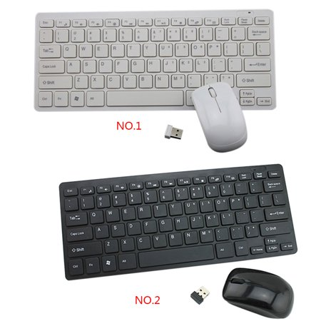 2.4G Mini Ergonomic Wireless USB Keyboard Mouse Set Office Entertainment Desktop Laptop Supplies - image 9 of 9