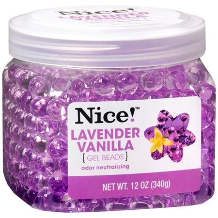 Nice! Odor Neutralizing Gel Beads Lavender Vanilla 12.0 o...