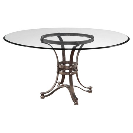Height 54 Inch Round Pedestal Table - Bassett Mirror Tempe Dining Table