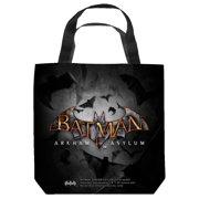 Batman Arkham Asylum Logo Tote Bag White 13X13