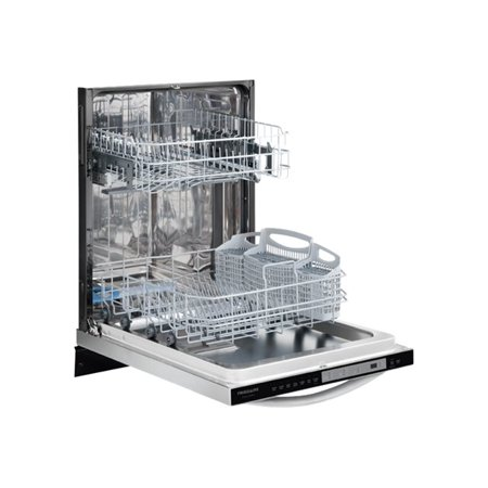 """Gallery FGID2474QF 24"""" Fully Integrated Built-In Dishwasher with 7 Wash Cycles Stainless Steel Tub Quiet 51 dBA Adjustable Upper Rack and Energy Star Rating in Smudge-Proof Stainless St"""