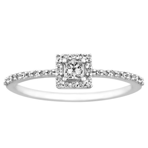 1 4 carat t w princess cut 10kt white gold