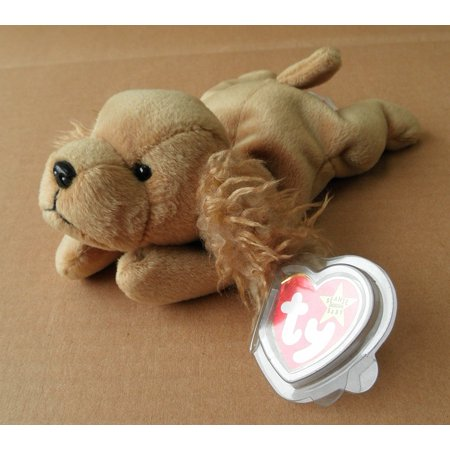 TY Beanie Babies Spunky the Cocker Spaniel Dog Stuffed Animal Plush Toy - 7 inches long - Brown, By