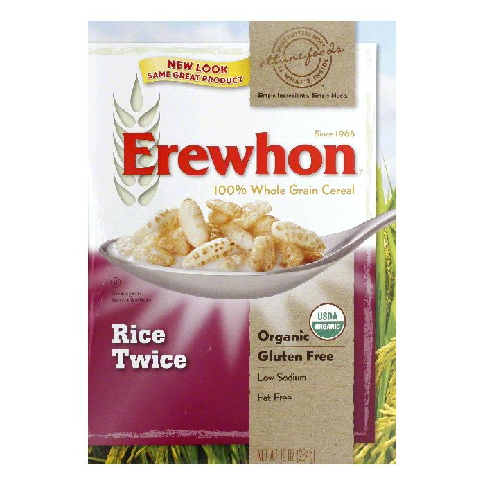 Erewhon Gluten Free Rice Twice Cereal, 10 OZ (Pack of 12)
