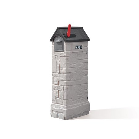 Step2 MailMaster StoreMore Outdoor Plastic Mailbox in Gray Finish
