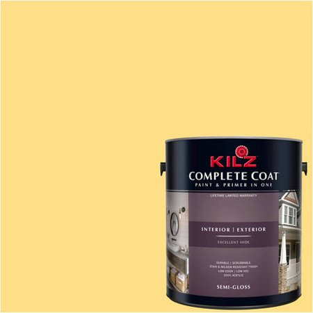 KILZ COMPLETE COAT Interior/Exterior Paint & Primer in One #LE250-01 Glory Yellow