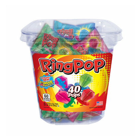 TOPPS Ring Pops Variety Pack, 40 - Lifesaver Pops
