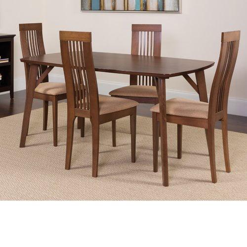 Winston Porter Huffaker 5 Piece Solid Wood Dining Set