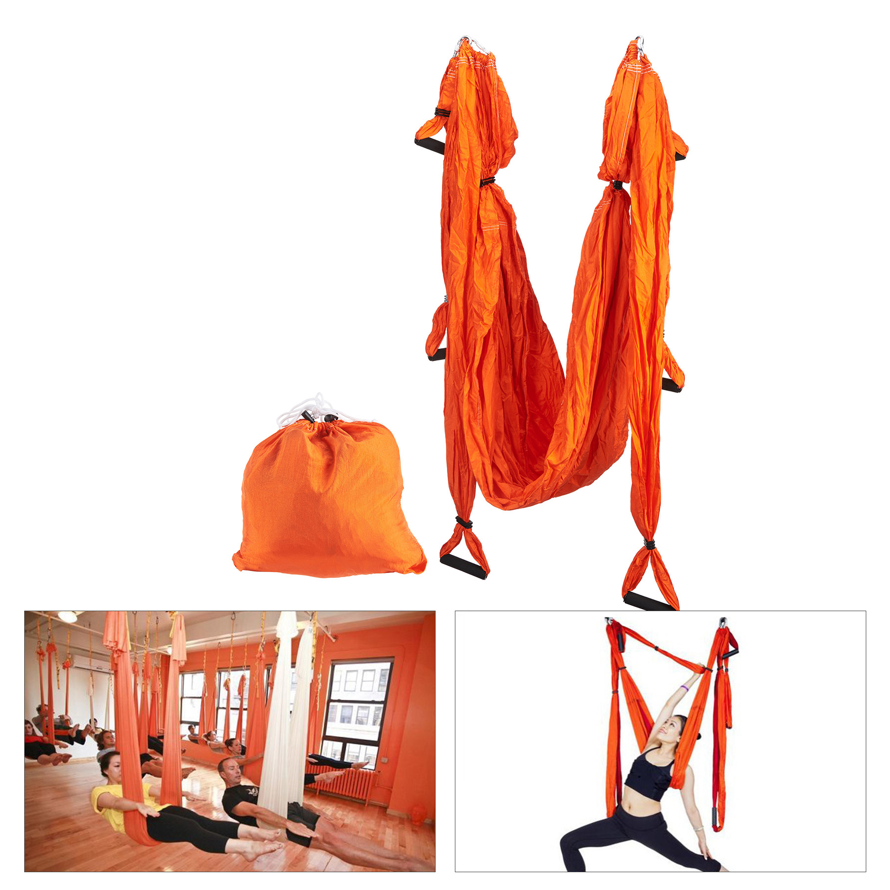 Aerial Yoga Swing Sling Trapeze Inversion Equipment Yoga Hammock Anti-Gravity by