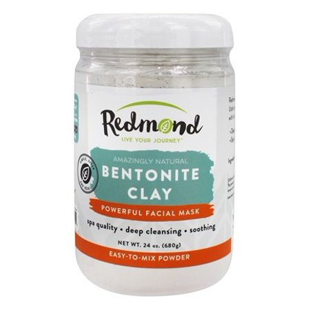 Amazingly Natural Bentonite Clay Facial Mask - 24 oz. by Redmond Trading (pack of 1)