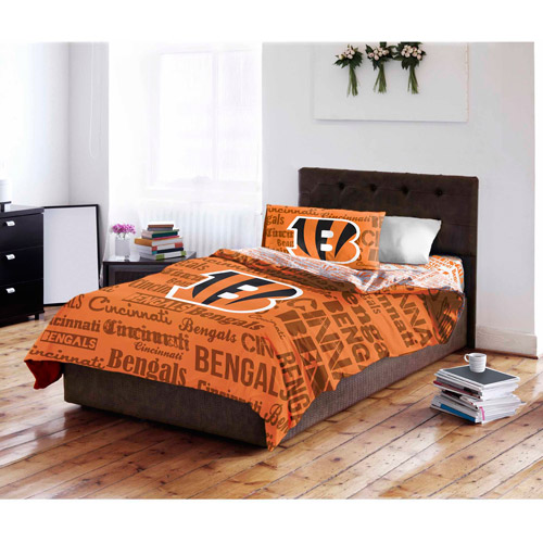 NFL Cincinnati Bengals Bed in a Bag Complete Bedding Set