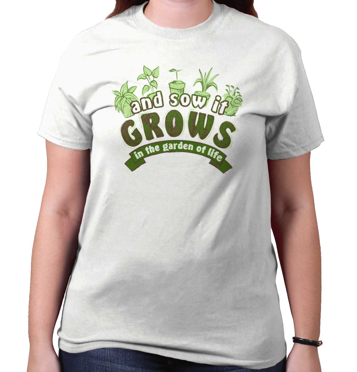 Sow it Grow Garden of Life Funny Shirt | Home Gardening Tools T-Shirt Tee