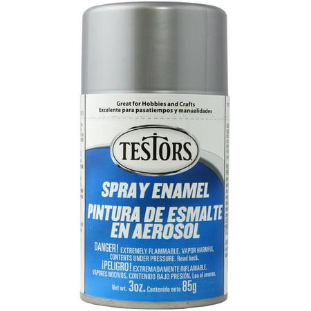 Silver Tone Metal Enamel - Testors Spray Enamel 3oz - Metallic Silver