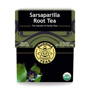 Organic Sarsaparilla Tea - Kosher, Caffeine-Free, GMO-Free - 18 Bleach-Free Tea Bags, Buddha Teas - Sarsaparilla Root Tea 18 bag By Buddha Teas