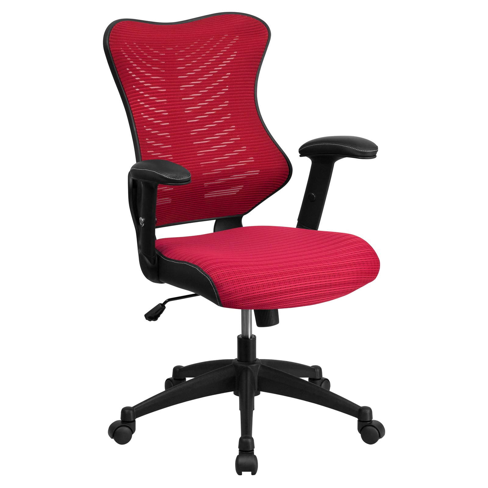 Flash Furniture High-Back Burgundy Designer Mesh Executive Swivel Office Chair with Mesh Padded Seat
