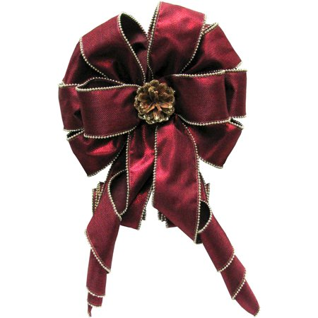 Burgundy Velvet Bow (Holiday Time Burgundy Tree Topper)