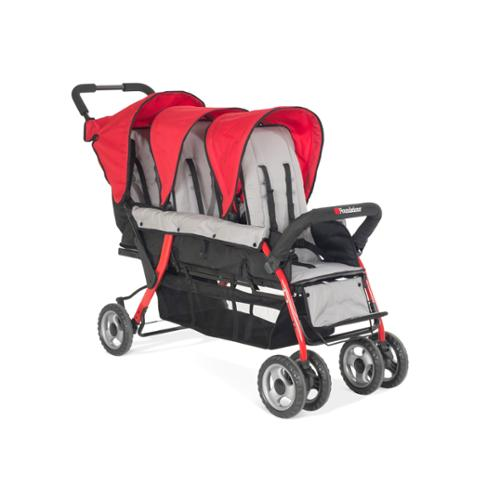Foundations Trio Sport Tandem Stroller in Red by Foundations