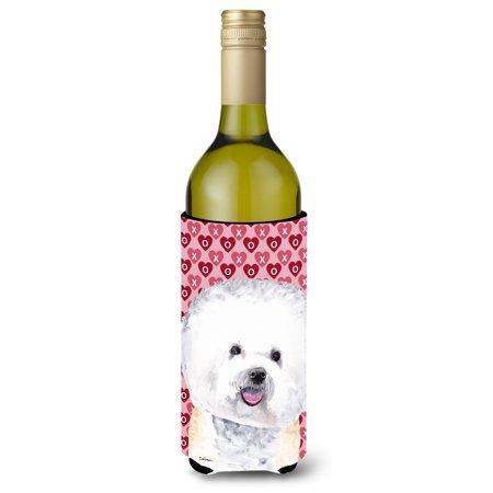 Bichon Frise Hearts Love and Valentine's Day Portrait Ultra Beverage Insulators for slim cans SC9278MUK