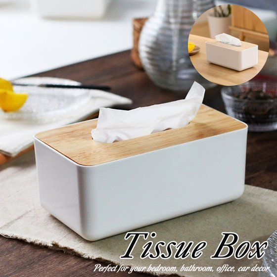 Luxury Tissue Box Cover Paper Napkin Holder Plastic Case Home Bathroom Car Decor