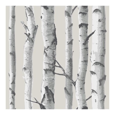 NuWallpaper Birch Tree Peel & Stick Wallpaper
