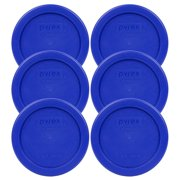 Pyrex Replacement Lid 7202-PC Cadet Blue Round Cover (6-Pack) for Pyrex 7202 1-Cup Bowl (Sold Separately)