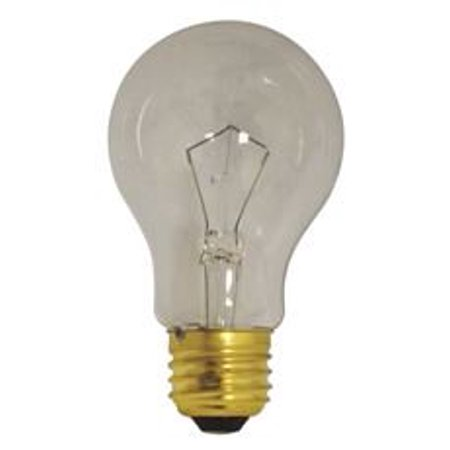 SATCO INCANDESCENT LAMP, A21, 75 WATT, 130 VOLT, MEDIUM BASE, FROST, 2,500 AVERAGE RATED HOURS, 24 -