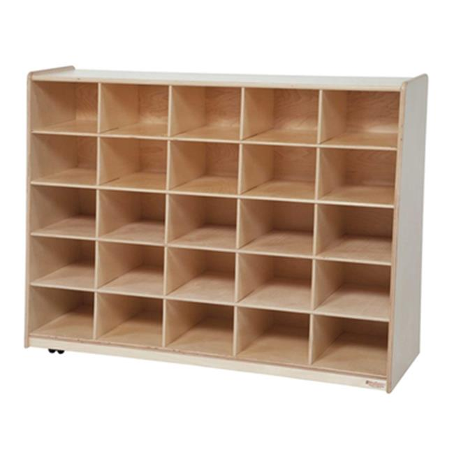 Wood Designs 16089LG Tip-Me-Not 25 Tray Storage With Lime Green Trays