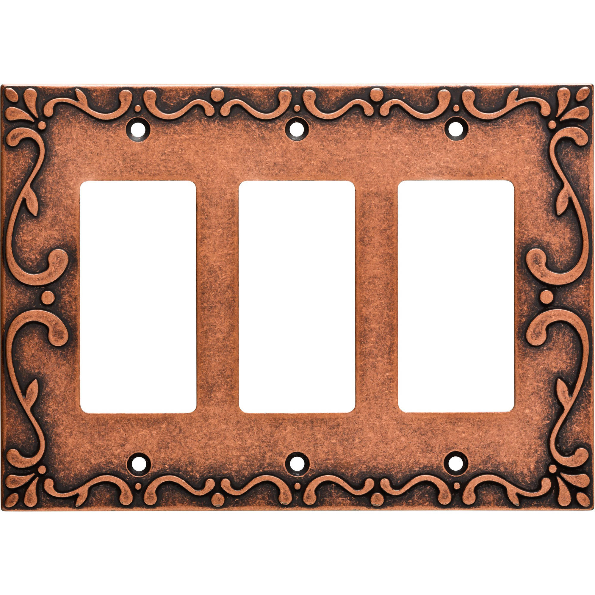 Franklin Brass Classic Lace Triple Rocker Wall Plate