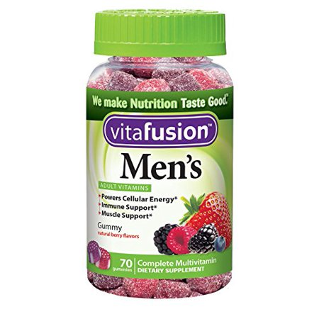 2 Pack - Vitafusion Daily multivitamines Gummy Men 70 Chaque