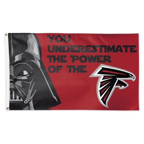 Atlanta Falcons Official NFL 3' x 5' Star Wars Darth Vader Banner Flag by Wincraft
