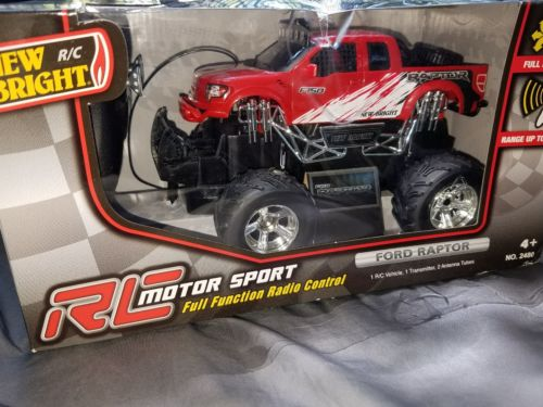 New Bright Charger Ford Raptor Remote Controlled Toy  sc 1 st  Walmart.com : ford raptor remote control car - markmcfarlin.com