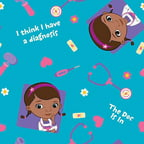 Doc Mcstuffins Toss Scrubs Poplin Fabric by the Yard