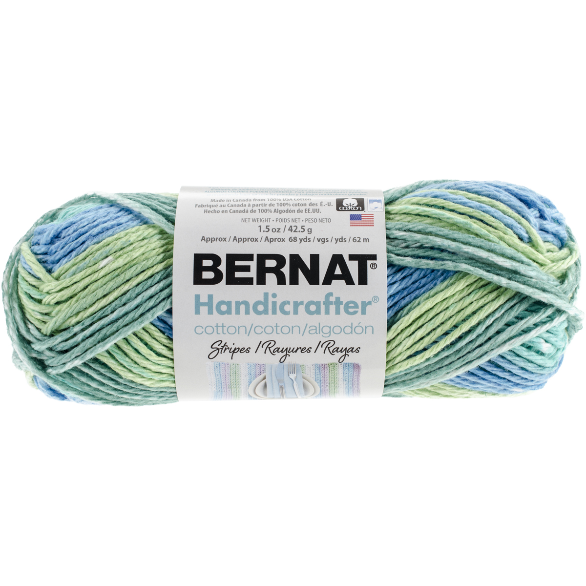 Handicrafter Cotton Yarn, Stripes, Country