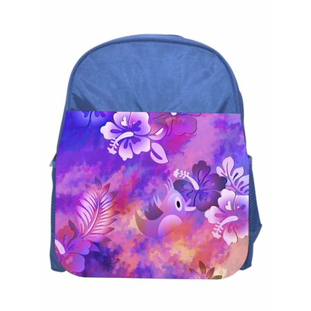 Bird & Flowers Blue Girls / Boys Preschool Toddler Backpack & Lunch Box Set