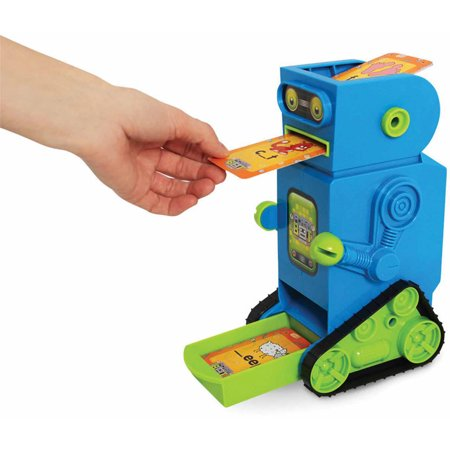 Cards Learning Palette - Junior Learning Flashbot Flash Card Robot, Includes 20 Demonstration Flash Cards