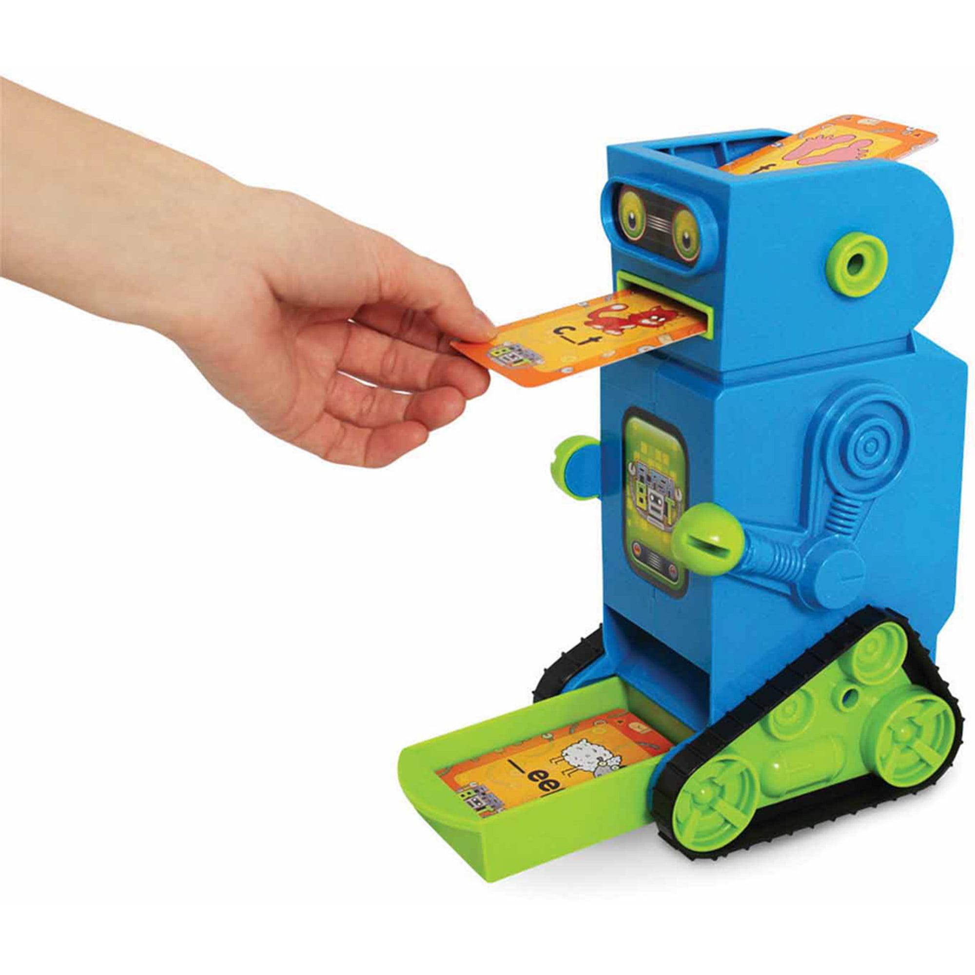 Junior Learning Flashbot Flash Card Robot, Includes 20 Demonstration Flash Cards