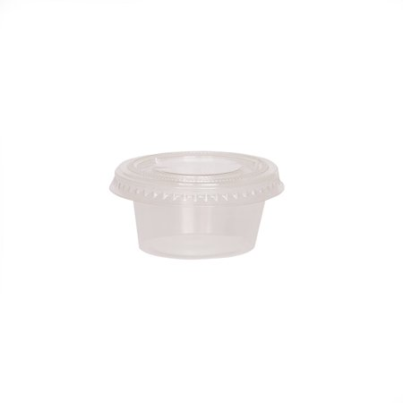 Clear Plastic Gelatin Shot Cups with Lids, 25ct