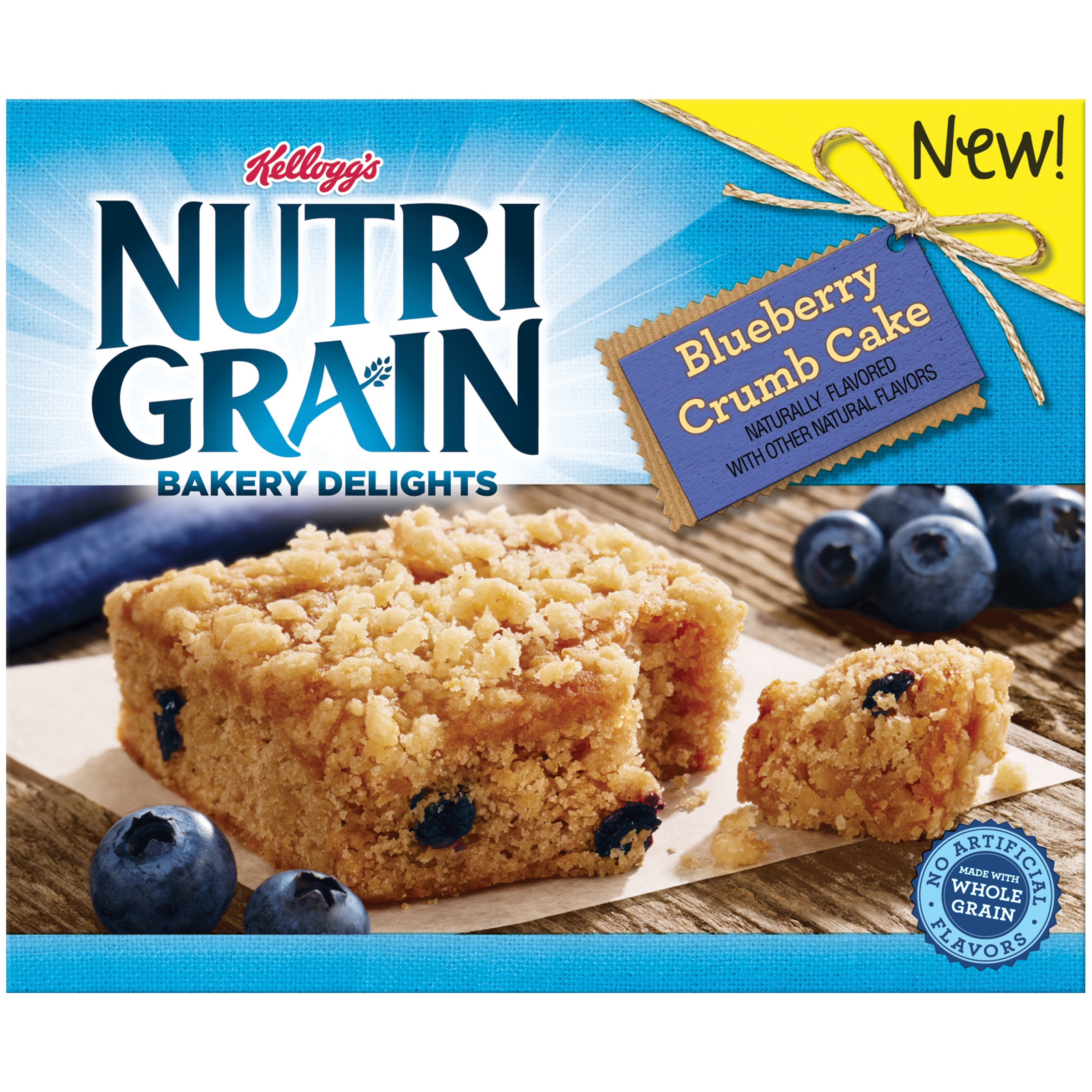 Nutri-Grain Bakery Delights, Blueberry Crumb Cake, 5 Ct