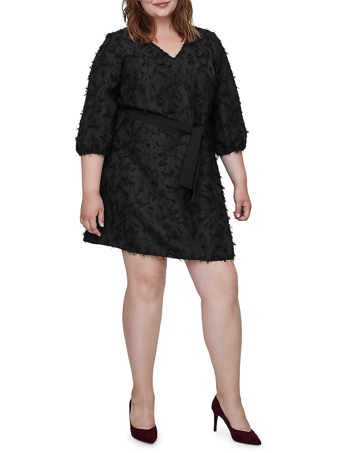 Plus Maddin Three-Quarter Sleeve Dress